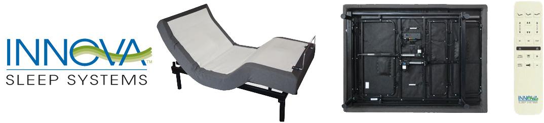 INNOVA Envy Adjustable Bed Remote and Logo