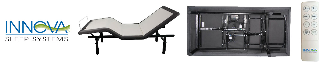 INNOVA Relax Adjustable Bed Remote and Logo