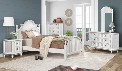 Key Largo Wicker Coastal Bedroom Furniture Collection