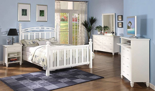 Seaside collection white tropical bedroom furniture