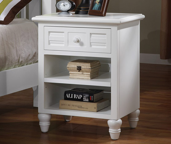 White Tropical Casual Night Stand