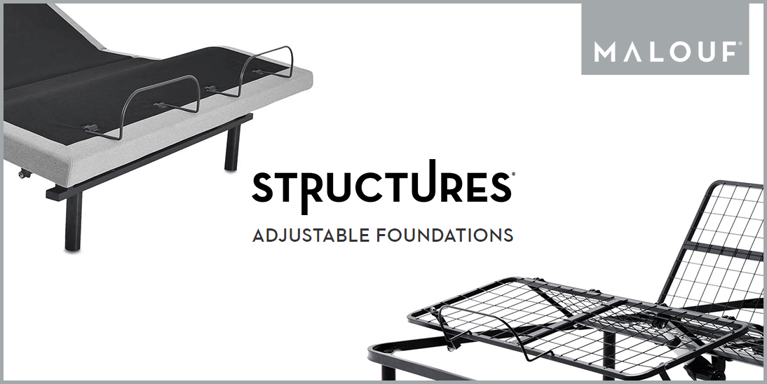 Malouf Structures Adjustable Bases Banner