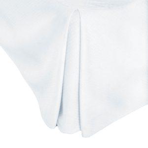 Malouf Matelassé Bed Skirt - corner detail