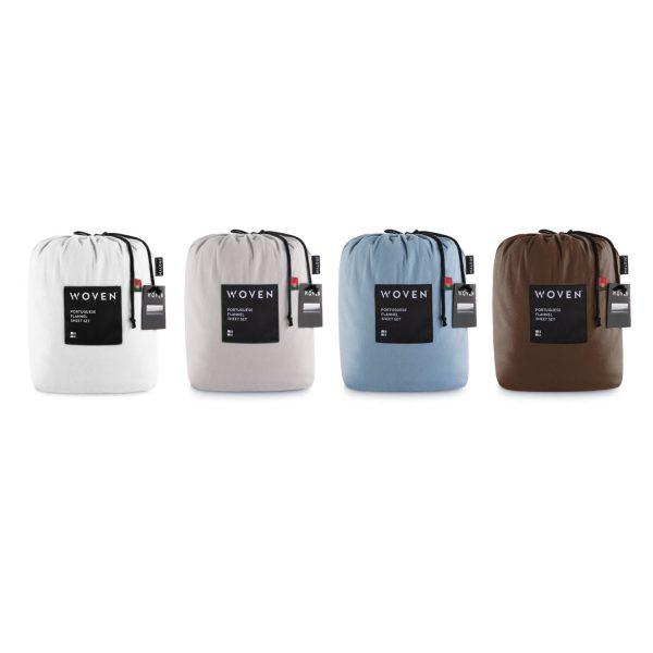 Malouf Woven ™ Portuguese Flannel Sheet Set packaging