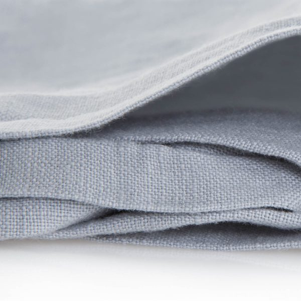 french linen duvet fabric - smoke