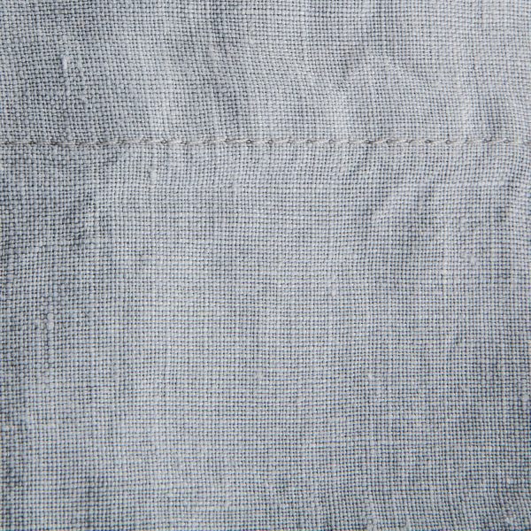 french linen duvet fabric detail - smoke