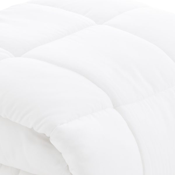 Malouf Reversible Bed in a Bag comforter closeup white