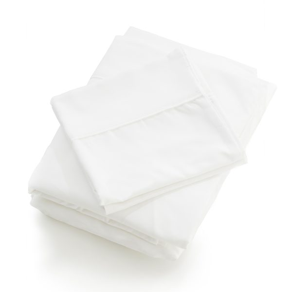 Malouf Reversible Bed in a Bag sheets close up white