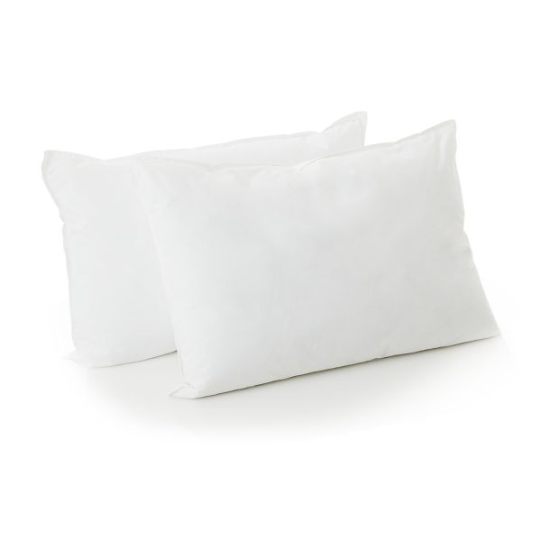 Malouf Reversible Bed in a Bag pillows close up white