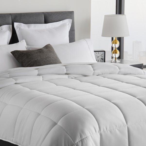 closeup of bed with Down Alternative Microfiber Comforter