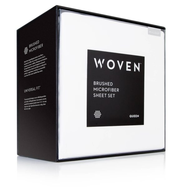 Malouf Woven ™ Brushed Microfiber Sheet Set packaging