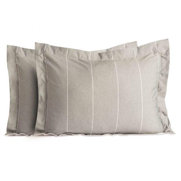 Malouf Chambray pillow shams in Birch