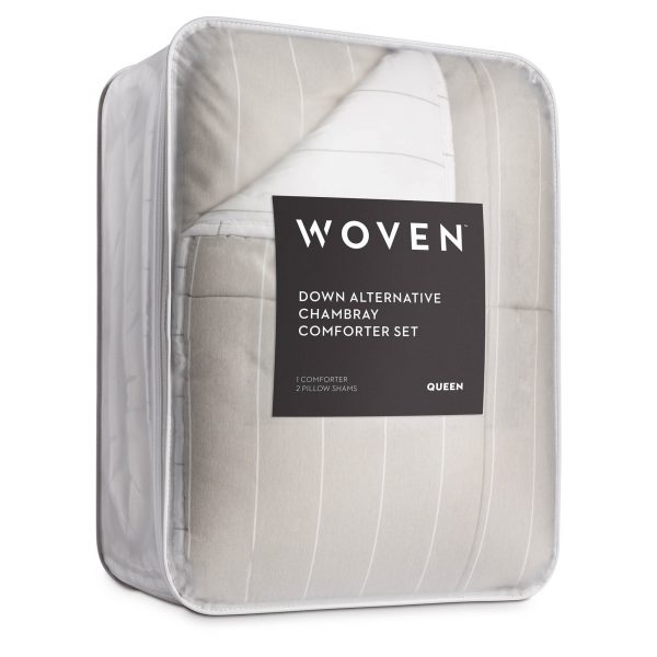 Malouf Chambray Comforter Set in Birch - Packaging