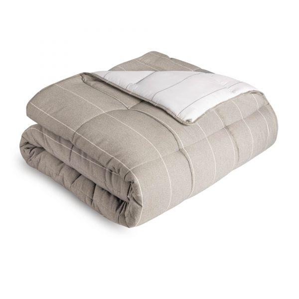 folded Malouf Chambray Comforter Set in Birch