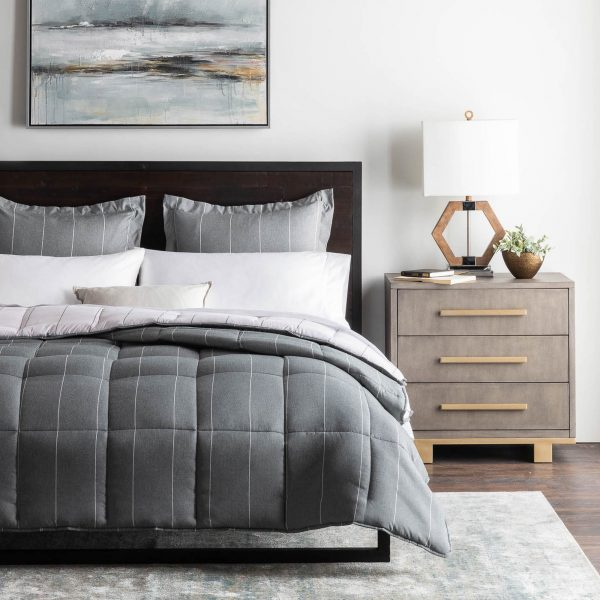 Bedroom - Malouf Chambray Comforter Set in Flint