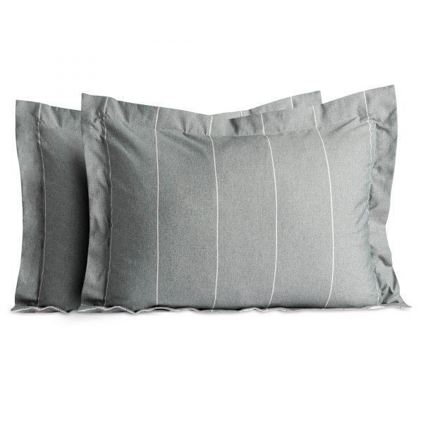 Malouf Chambray pillow shams in Flint