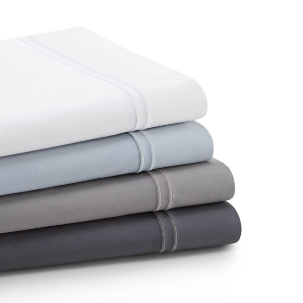 Malouf Woven ™ Supima® Premium Cotton Sheets - folded and stacked