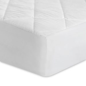 Malouf Mattress Pad corner showing texture