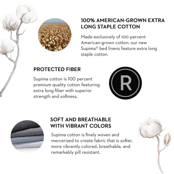 100% american grown extra long staple cotton - protected fiber - soft and breathable