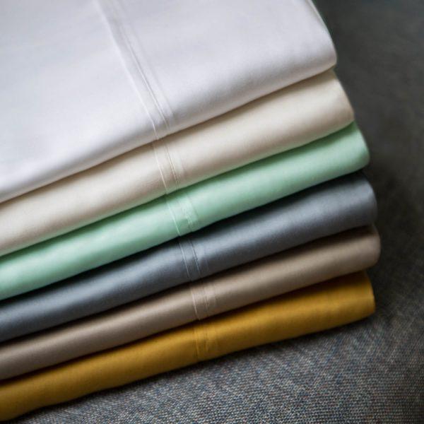 Malouf Woven ™ TENCEL™ Sheets - stacked
