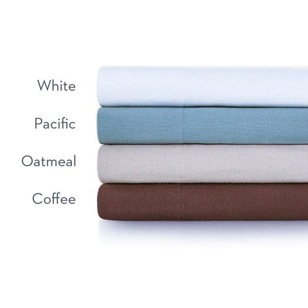 Malouf Woven ™ Portuguese Flannel Sheet Set color names