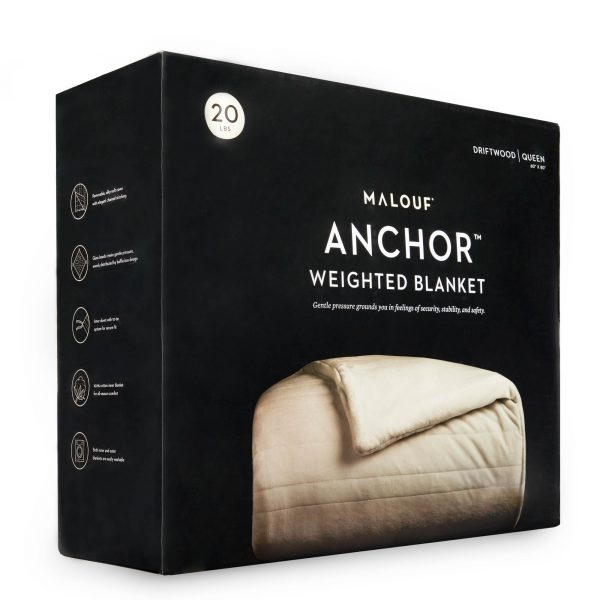 Malouf Anchor™ Weighted Blanket packaging