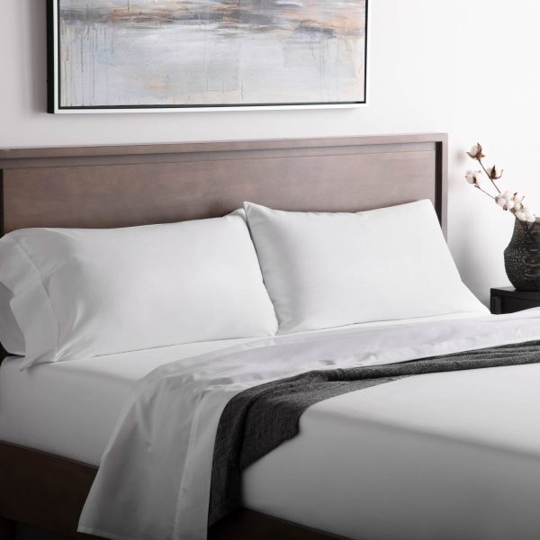 bedroom photo with Malouf Woven ™ Brushed Microfiber Sheet Set in White