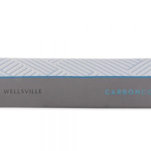 """Wellsville 14"""" CarbonCool® Mattress side view showing logos"""