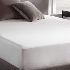 Waterproof Jersey Mattress Protector on bed - corner