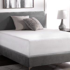 Weekender Hotel-Grade Encasement Mattress Protector on bed