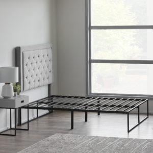 Weekender Modern Platform frame - pictured in bedroom with headboard