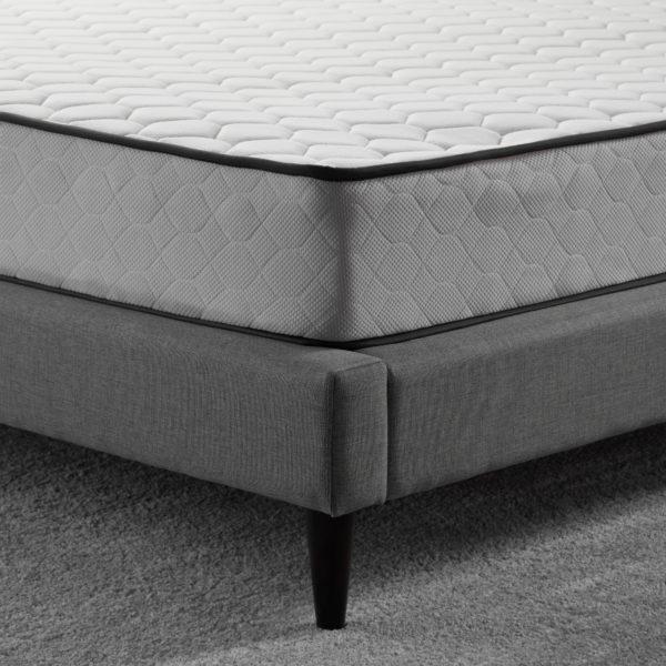"""corner shot of Neeva 8"""" Hybrid Mattress - Firm - on bed frame"""