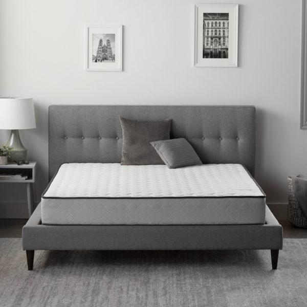 "Neeva 8"" Hybrid Mattress - Firm - shown in bedroom"