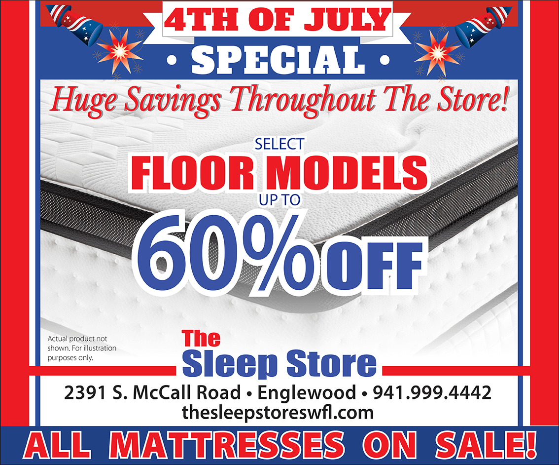 4th of July Mattress Special - Select Floor Models Up to 60% Off