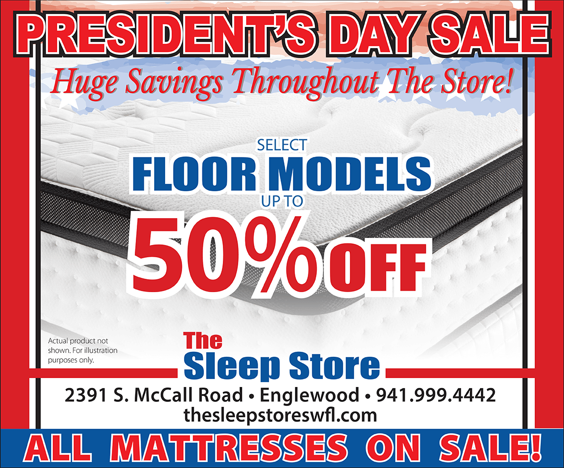 President's Day Sale - Up to 50% Off Select Floor Models -All Mattresses On Sale