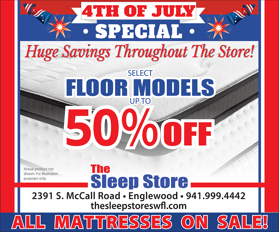 4th of July Special - Huge savings throughout the store - Select Floor Models Up to 50% Off