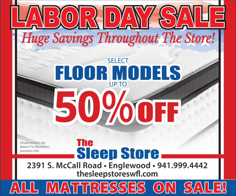 Labor Day Sale - Up to 50% Off Select Floor Models -All Mattresses On Sale
