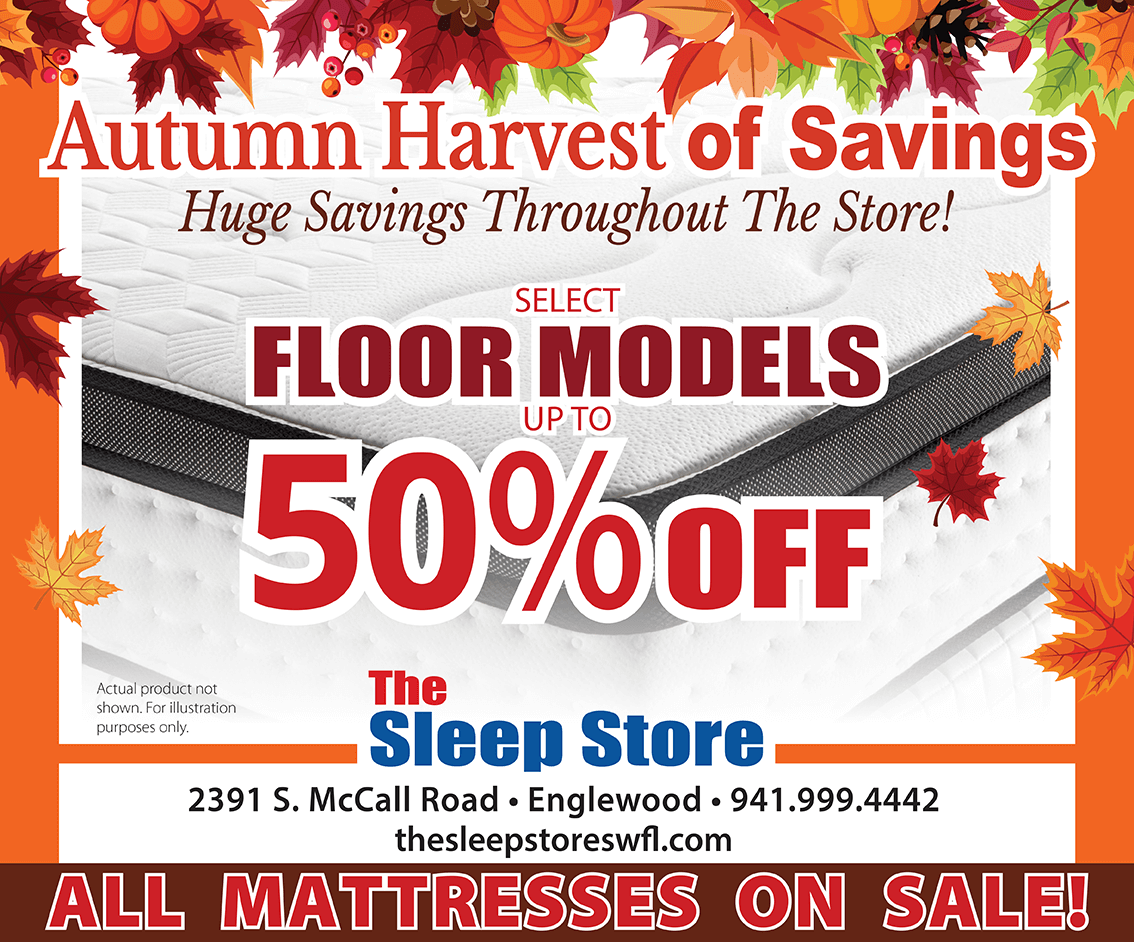 Autumn Harvest of Savings - Up to 50% Off Select Floor Models -All Mattresses On Sale